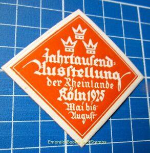 Cinderella/Poster Stamp - Germany 1925 - Jahrtausend-Ausstellung Köln - 4481