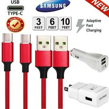 OEM SAMSUNG Galaxy Note10 S8 S9 S10+ S10E Fast Wall Charger USB-C Type-C Cable