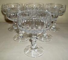 SIX Vintage Schott-Zwiesel FLAMENCO Cut Crystal CHAMPAGNE / TALL SHERBETS