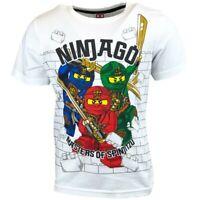 Boys Girls Kids Children Lego Ninjago Short Sleeve T Shirt Top age 3-12 years W3