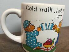 Coffee Mug Vintage Berenstain Bears 1987 Cold milk, hot soup, ice cream soda.