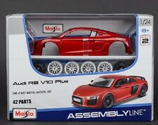 Maisto 1:24 Audi R8 V10 PLUS Red Assembly DIY Racing Car Diecast MODEL KITS