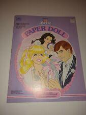 Vintage Perfume Pretty Barbie Paper Doll Golden Book Uncut Mattel