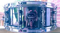 "Mapex ARMORY Tomahawk 14"" Stainless Steel Snare Drum Black Chrome"