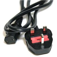 OFFICIAL Xbox 360 Power Supply 2 Pin Kettle Lead Cable UK Mains Plug 1.2m Fused