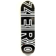 "Zero Bold Black White 8.5"" Skateboard Deck"
