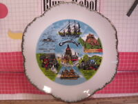 State of Connecticut souvenir plate with Places and Points of Interest