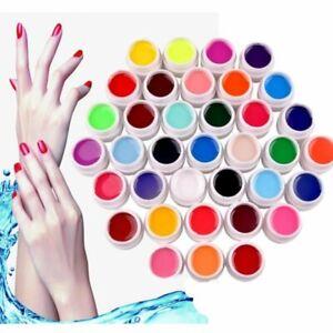 36 Pure Gel UV Colorati Coprenti Ricostruzione Unghie Nail Art Manicure