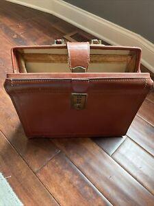 Vintage Wear Best Briefcase Brown Cowhide Leather Doctor Lawyer Bag Wearbest