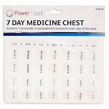 7 DAY PILL BOX ORGANISER TABLET DISPENSER BRAILLE DAILY MEDICAL CHEST