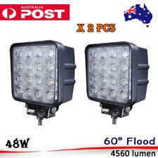 2 x 48W LED driving lights work light pickup truck jeep boat OffRoad 4x4 4WD suv