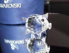 Cristal de Swarovski Plata cerdo muy lindo regalo adorable día de las madres presentes