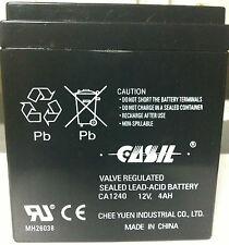 ADT 804302 Casil 1240 ADT First Alert 12VDC 4AH Alarm System Battery New 2017