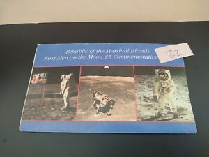 Republic of Marshall Islands First Men on Moon $5 Commemorative Uncirculated -22