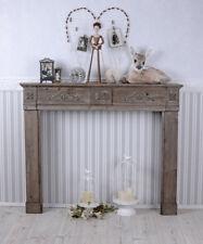 Manteau de cheminée shabby chic console décorative à bois