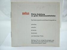 ORIGINAL BRAUN F65 CAMERA FLASH INSTRUCTION MANUAL (GERMAN)