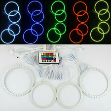 SMD Multi-Color RGB ANGEL EYE HALO RING Bulb Remote kit for Land Range Rover