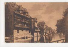 Nuernberg Alte Haeuser An Der Pegnitz Vintage Postcard Germany 636a