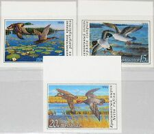 RUSSIA SOWJETUNION 1990 6099-01 U ZF 5906-08 imperforated Ducks Enten Fauna MNH