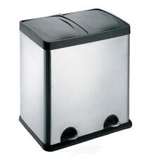 50L Stainless Steel Multi 2 Compartment Large Recycle Pedal Bin Recycling office