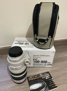 Canon EF 100-400mm F4.5-5.6L IS USM Lens Includes Filter Tripod Collar & Boxed