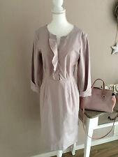 SCHUMACHER Luxus Blusen Kleid nude rosé 3/4 Arm Volants Baumwollmix Gr. 3 38 M