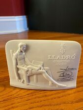 Vintage 1985 Lladro Collectors Society Signed Don Quixote Plaque Shell Back