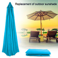 More details for umbrella replacement canopy 2.7m 6 bones 8 ribs uv-protected stand peacock