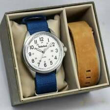 Timberland Raynham Brown Leather and Blue Nylon Slip Thru Strap 14829JS-01-AS