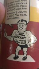 Vintage Durhams Rock Hard Water Putty 1970's Can Pre barcode great graphics