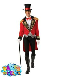 Adult Mens Ringmaster Circus Man Costume Greatest Showman Fancy Dress Outfit
