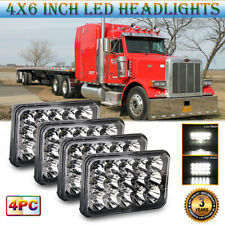 "4X Square 4x6"" LED Headlights High Low Beam for Peterbilt Truck 357 377 378 379"