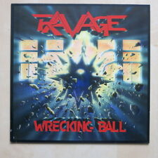 RAVAGE Wrecking Ball Original Dutch vinyl LP Roadrunner RR9672 1986 MINT