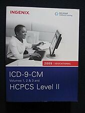 2009 Educational ICD-9-CM Volumes 1, 2 and; 3 and  HCPCS Level II [Dec 22, 2..