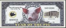 Million Note - Fantasy Money - Chinese Zodiac - Year of the Pig