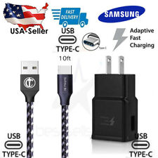 10 FT Samsung Adaptive Fast Travel Wall Charger for Galaxy S9 S8 P Note 8 Cable