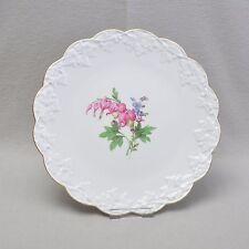 Meissen Blume 2 große Tortenplatte / Teller, 33cm, Efeublatt Reliefdekor