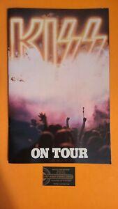 Kiss On Tour 1976 Program - Laminated