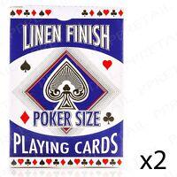 2 x Poker Playing Cards SECURITY SEALED Full Casino Deck Gambling Set Blackjack