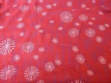 Red Silk Chiffon with Starbursts