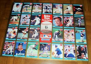 NOLAN RYAN AUTOGRAPHED POSTER-CAREER CARDS -1992-AVAILABLE IN HOBBY STORES ONLY