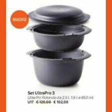 TUPPERWARE SET ULTRA PRO ROTONDO 3 pezzi ( 2,5 litri 1,5 litri coperchio 800ml)