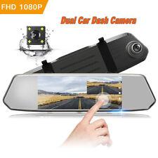 "TOGUARD Dash Cam 7"" HD 1080P RearView Mirror Dash Cam Touchscreen Reverse Camera"