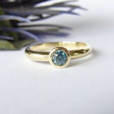 SCHMUCK-STCK Ring 585 GOLD Brillant NEU SOGNI d'oro  FACETTENREICH 56 18 blau