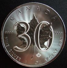 FREE SHIPPING 1 oz 30th Anniversary Silver Maple Canada 2018 9999 RCM Coin $5