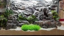 3D Background Grey Rock Wall For Aquarium Fish Tank Vivarium Terrarium Polyresin