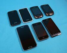 Mixed Lot of 7 Cell Phone XT862 A1303 RCY71UW SCH-i500 SM-G900V Factory Reset