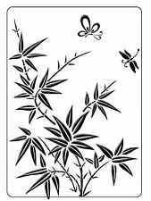 Bamboo Butterfly Embossing Folder Crafts Too folder flowers CTFD3109