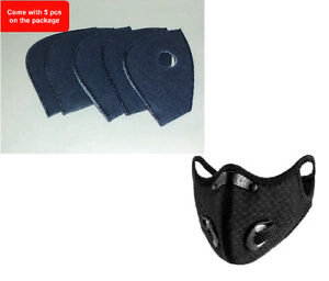 Outdoor Cycling running Sport Mask with carbon Filter with valves black color