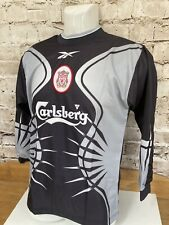 "Vintage 1998 Reebok Liverpool Football Shirt Goalkeeper Top Youths 30/32"" Black"